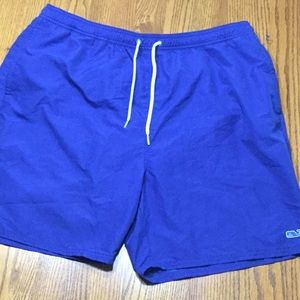 Vineyard Vines swim trunks in size XL.